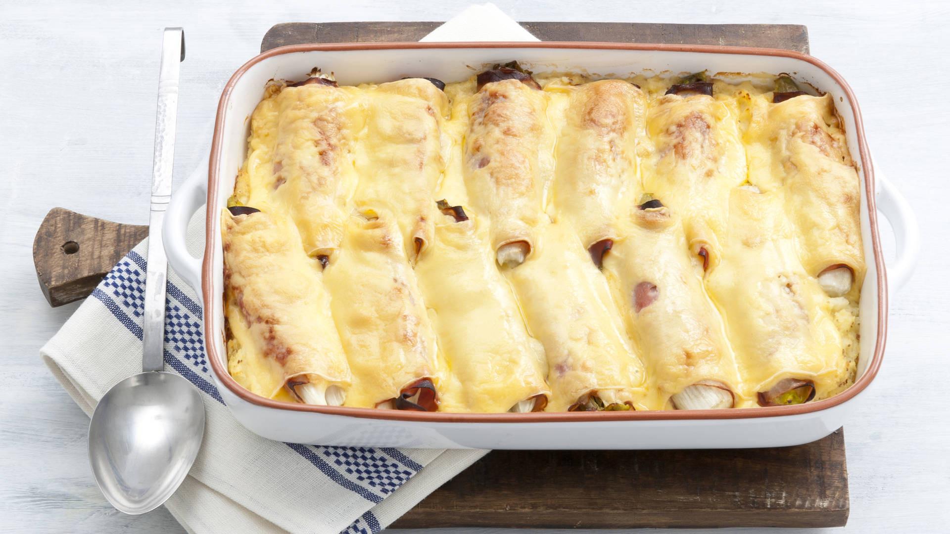 witlof in de oven met ham en kaas