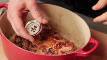 kiprollade bakken in de pan