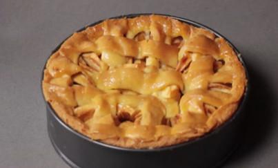 Appel-bessentaart bakken