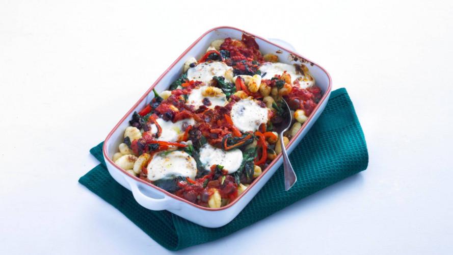 Gnocchigratin met spinazie