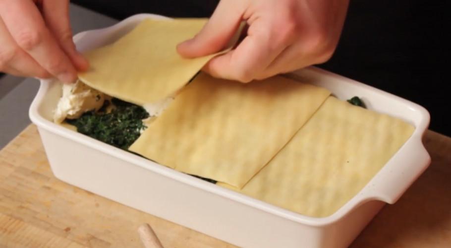 Romige spinazielasagne maken