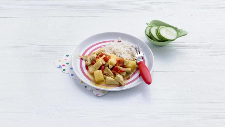 Opperdepop: kokoskip met ananas (1-2 jr)