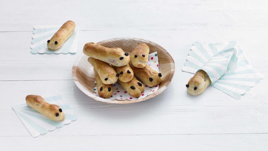 Opperdepop: rupsbroodjes met knakworst
