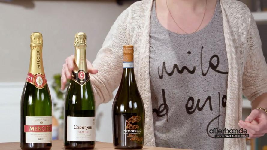 Wat is het verschil tussen champagne, cava en prosecco?