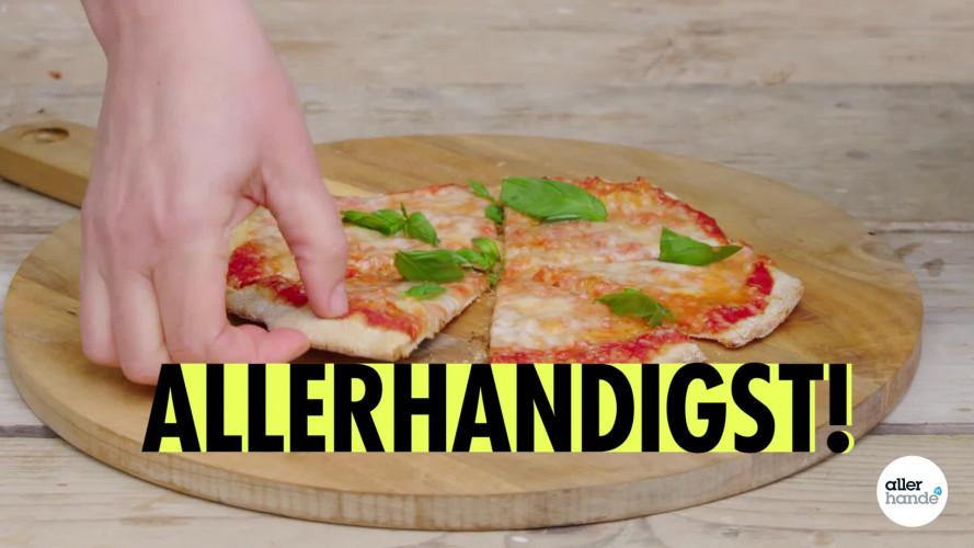 Allerhandigst bloempotschaal als pizzaplaat