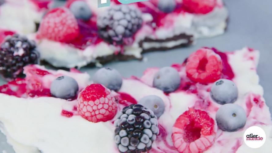Frozen-yoghurt bark met Oreo's