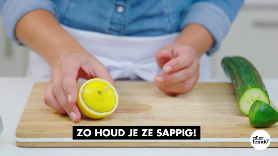 Allerhandigst: zo drogen citroen en komkommer niet uit