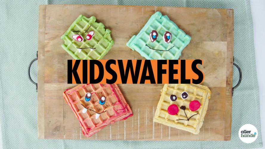 Gekleurde kidswafels