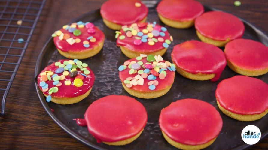 Roze koeken van Rutger Bakt