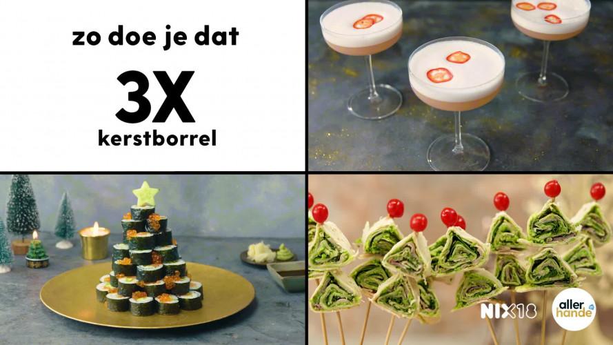 3 x kerstborrel: kersthapjes en cocktail recept