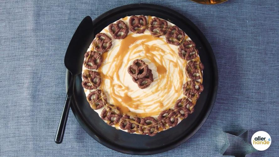 Choco-pretzelijstaart