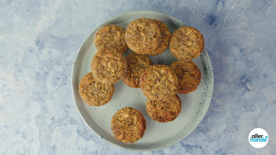 Magere-kwarkmuffins met geraspte appel