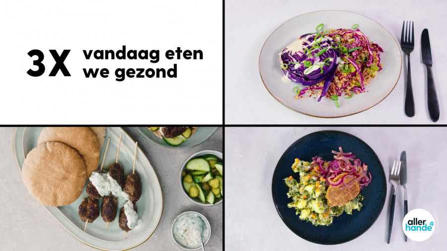 3 x Wat eten we vandaag: hutspot, quinoasalade en kebab