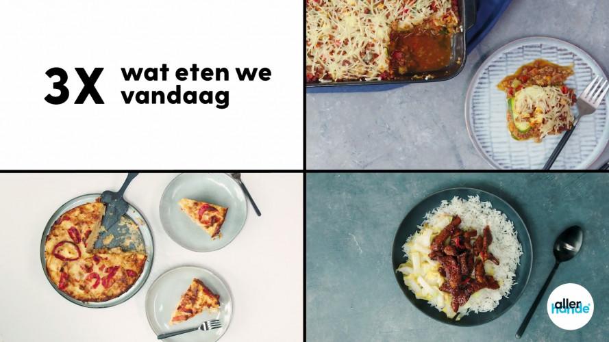 3 x Wat eten we vandaag: hartige taart, vegan lasagne, babi ketjap