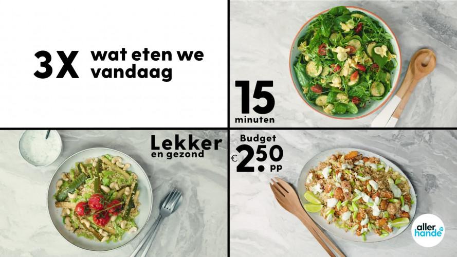 3 x Wat eten we vandaag: pastasalade, bulgursalade en couscoussalade