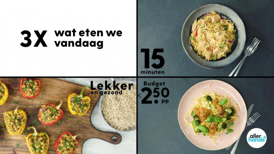 3 x Wat eten we vandaag: gevulde paprika's, tagliatelle met gehaktballetjes en eenpansnoedels