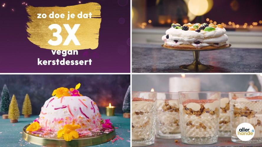3 x vegan kerstdessert: meringuetaart, tiramisu en ijsbombe