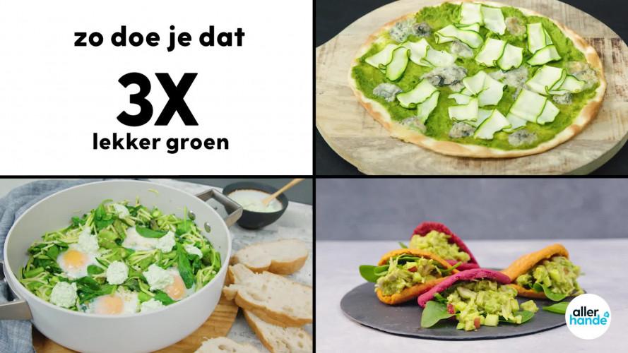 Zo doe je dat: 3x lekker groen (pizza, pulled jackfruit en shakshuka)