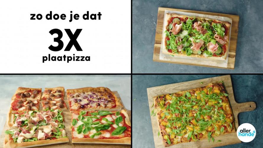 3x plaatpizza